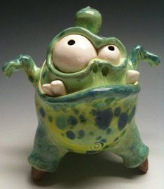 Claymonster Pottery's would like to see this done in polymer clay