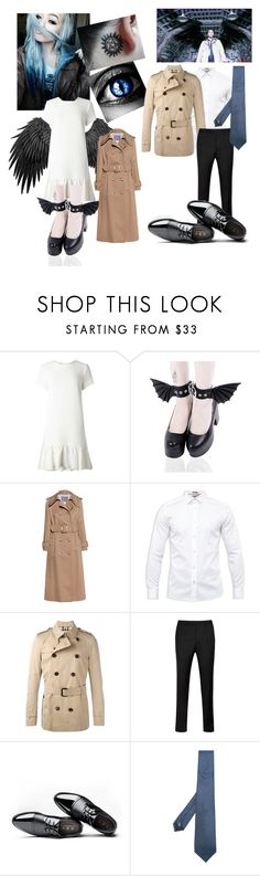 """""""Kate Winchester meets Castiel"""" by firecutie ❤ liked on Polyvore featuring Miss Selfridge, AlexaChung, Ted Baker, Burberry and Cerruti 1881"""