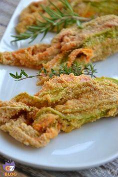 Baked stuffed zucchini flowers - Fiori di zucca ripieni al forno, ricetta leggera con un ricco ripieno
