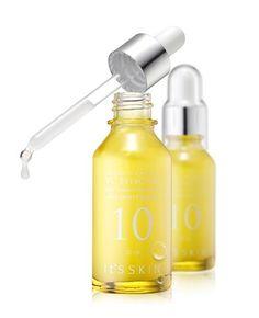It's Skin Power 10 Formula VC Effector Whitening Ampoule Essence Rinishop for sale online Mandelic Acid, Skin Lightening Cream, Lighten Skin, Skin Serum, Korean Skincare, Korean Beauty, Natural Skin, Whitening, Moisturizer