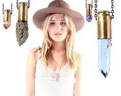 ORIEL quartz crystal bullet necklace by aaanouk on Etsy, $29.00
