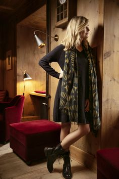 Winter Collection, Outfit, Dresses, Fashion, Fashion Styles, Leather Bag, Scarves, Outfits, Vestidos