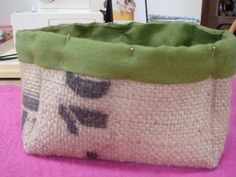 Coffee sack burlap is a great sustainable material. It's natural, biodegradable, and strong. Here is an easy tutorial on how to make a great shabby chic fabric box from an upcycled coffee sack. Coffee Bean Sacks, Burlap Coffee Bags, Burlap Projects, Burlap Crafts, Paper Crafts, Diy Crafts, Framed Burlap, Burlap Sacks, Shabby Chic Fabric