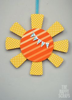 Cute Sunshine Door Hanger - would be cute for a Nursery or Girls Room!