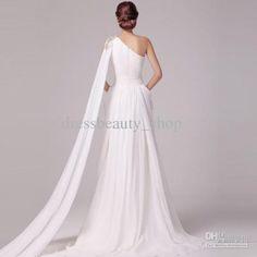 2013 Goddess Greek Sheath Beach Wedding Dresses Colorful Beading Sequns Elegant Watteau Bridal Gowns