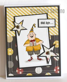 Art Impressions Rubber Stamps: Ai @ Hobby Lobby: - Birthday Wishes Clear Stamps . Birthday Wishes Cards, Masculine Birthday Cards, Funny Birthday Cards, Handmade Birthday Cards, Masculine Art, Art Impressions Stamps, Handmade Stamps, Funny Cards, Copics