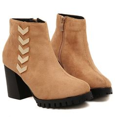 Korean Style Suede Middle Heels Shoes Woolen Boot--Click the picture can place an order, we support wholesale.