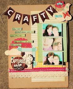 'two CRAFTY birds' by Marie Ramirez for Shabby Chic Crafts. #scrapbooking / definately scraplifting this one!