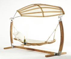 Amazing design, oak hammock, perfect for drink in your garden!!