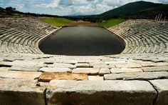 The imposing stadium / Ancient Messene, Greece / There is also an impressive agora, a theater, temples and a Sanctuary of Asclepius Ancient Greek Art, Ancient Greece, Most Beautiful Beaches, Beautiful Places, Empire Ottoman, Greece Holiday, Day Tours, Historical Sites, Luxury Travel