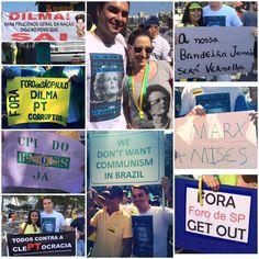 São várias as motivações de quem vai às ruas protestar, mas o objetivo é um só: #ImpeachmentJá  Flavio Bolsonaro na luta pelo Brasil melhor.