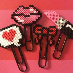 ew Valentine's Day Releases are now LIVE in the shop. Perler Bead Designs, Hama Beads Design, Perler Bead Templates, Diy Perler Beads, Perler Bead Art, Pearler Beads, Fuse Beads, Melty Bead Patterns, Pearler Bead Patterns