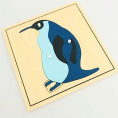 The Penguin Puzzle, one of a series of wooden puzzles whose pieces illustrate the various different parts of the Penguin, falling under the vertebrate group Arctic Animals, Vertebrates, Wooden Puzzles, Zoology, Puzzle Pieces, Kids House, Kids Learning, Montessori