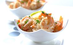 Portuguese Prawns with garlic and lemon : a lovely light starter for a festive South African #Christmas meal.