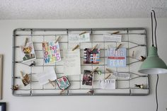 recycled-bed-spring-inspiration-note-memo-photo-board-trashy-crafter-1