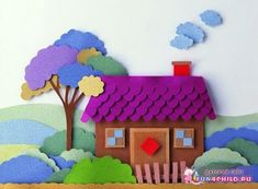 Paper crafts for kids 3d Paper Crafts, Paper Crafts For Kids, Foam Crafts, Paper Art, Diy And Crafts, Arts And Crafts, Art Drawings For Kids, Art For Kids, Do It Yourself Decoration