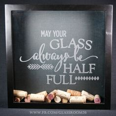 Wine Cork Shadow Box by Glassroom26 on Etsy