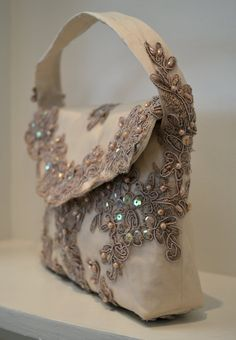 Couture Purse ~ Couture Evening Bag ~  Couture Handbag ~ by  www.CouturesbyLaura.Etsy.Com ~  $120.00
