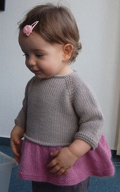 Ravelry: Tutu Top pattern by Lisa Chemery #knitting #tricot #strikk #frogginette