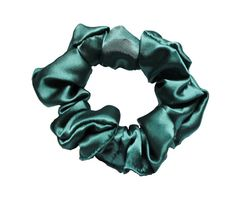 Scrunchies Green Satin Ponytail Holder Free by ScrunchieKing