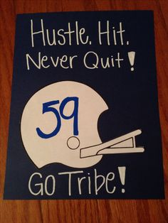 Fun for a traveling team - Hotel room signs -Cute football sign idea Football Player Gifts, Football Cheer, Youth Football, Football And Basketball, Football Season, Football Treats, Football Favors, Football Banquet, Football Stuff