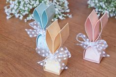 Bunnies Easter favors with instructions - Hasen Gastgeschenke zu Ostern mit Anleitung – ColorSpell Bunnies Easter favors with instructions – ColorSpell - Easter Peeps, Hoppy Easter, Easter Gift, Easter Crafts, Holiday Crafts, Craft Show Ideas, Easter Printables, Gifts, Wedding Dress