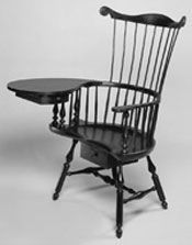 Philadelphia Writing Arm Chair-Made by Curtis Buchanan, a Highland Woodworking instructor and woodworker.