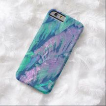 Faux Purple Blue Pink Turquoise Sea Shell Pattern iPhone 6 Case