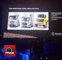 Le lancement de la nouvelle gamme ACTROS, ANTOS et AROCS commence à Munich :-)