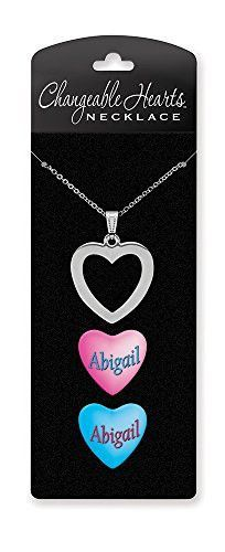 Dimension 9 Changeable Hearts Personalized Heart Pendant Necklace - Abigail, 18 Chain