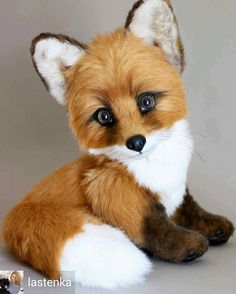 Super Cute Animals, Cute Little Animals, Needle Felted Animals, Felt Animals, Teddy Toys, Cute Animal Drawings, Cute Fox, Funny Cat Videos, Cute Creatures