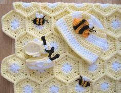 Couverture pour bébé abeilles dans une ruche bonnet