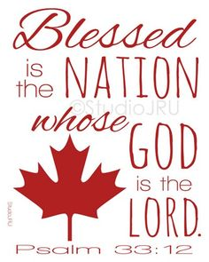 Scripture Art, Blessed Is The Nation, Canada