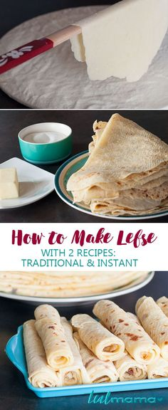 How to Make Lefse with 2 Recipes - D-Wraps, Omlett, Pfannkuchen usw. (deutsch)Learn how to make lefse, a traditional Norwegian flat bread. Made with potatoes, grilled and served with butter and sugar. Find two different recipes – traditional and ins Norwegian Cuisine, Norwegian Food, Norwegian People, Viking Food, Swedish Recipes, Norwegian Recipes, Norwegian Lefse Recipe, Scandinavian Food, Different Recipes