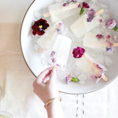 Winescles with edible flowers (Kendall Jackson blog)