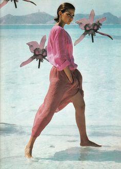 Venezuela / Vogue Italia 1976 - model Laura Alvarez - photo by Gianpaolo Barbieri
