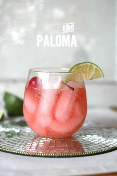 The paloma cocktail :  . 2 oz blanco tequila . 6 oz Grapefruit soda, or I like Fresca in these too . 1/2 oz lime juice
