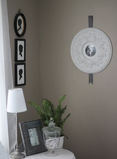 Ceiling medallion as a picture frame!