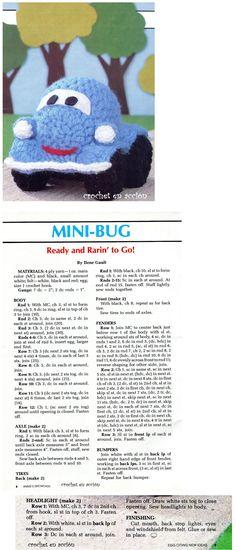 Amigurumi Mini Bug - Tutorial* ༺✿ƬⱤღ https://www.pinterest.com/teretegui/✿༻
