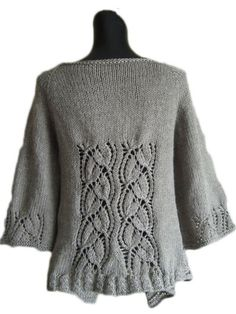 Dramatic Lace Wrap Cardigan Knit Pattern