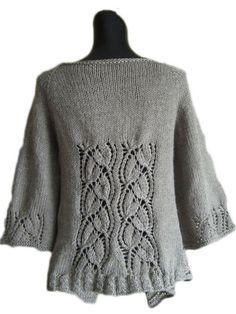 Dramatic Lace Wrap Cardigan Knit Pattern