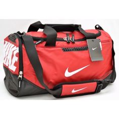 Nike Max Air Red and Black Small Duffel Bag for gym 59aab5b4b545d