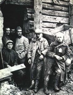 September 4, 1916 - Verdun: Tavannes Tunnel Disaster Pictured - Wounded French soldiers outside the entrance of the tunnel. They and hundreds wounded men crowded inside died in the accidental explosion. French soldiers captured the village of...