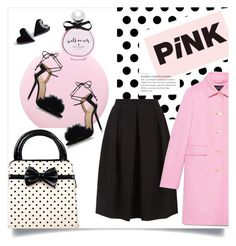 """pink coat"" by rehannah-o ❤ liked on Polyvore featuring Monsoon, Gucci, Nails Inc., Charlotte Olympia, Kate Spade, contestentry, fashionset, topset, winterfashion and winterstyle"