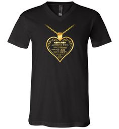 awesome LOVING YOU IS MY LIFE (GOLD) Unisex V-Neck T-Shirt