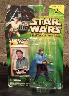Star Wars Power Of The Jedi Lando Calrissian Bespin Escape Collection 2 Action Figure MOC