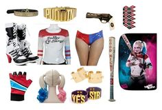 """""""Halloween costume- Harley Quinn❤️💙"""" by emerson-lea on Polyvore"""