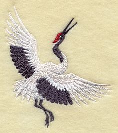 RP: Machine Embroidery: Asian Crane