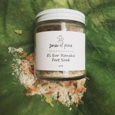 ⭐️New item in the shop! ⭐️ The El Sur Rancho Foot Soak was featured in the Big Sur Box and I loved the recipe so much that I made another batch. Made with lemongrass, eucalyptus and tea tree essential oils for an incredible fresh scent.