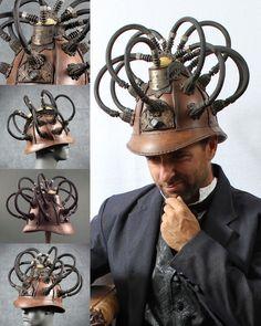 Plague doctor masks and costumes by Tom Banwell Designs, plus steampunk masks and helmets. Steampunk Machines, Victorian Gentleman, Plague Doctor Mask, Steampunk Mask, Great Inventions, Steampunk Clothing, Dieselpunk, Headgear, Cyberpunk